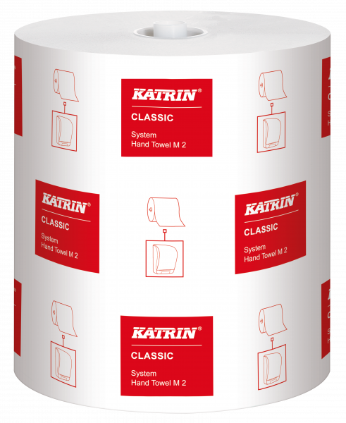 Katrin Classic System Handtuchpapierrolle, 2-lg weiß, 21 cm x 160 m - 460102