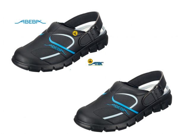 ABEBA Dynamic 7331 | 37331 ESD Berufsschuh Clog schwarz/blau