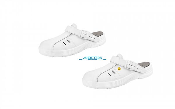 ABEBA X-Light 711141 7131141 ESD Berufsschuh Clog Küchenschuh Arbeitsschuh weiß